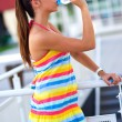Royalty-Free Stock Photo: Teen girl drinks water