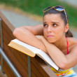 Teen girl with book - Photo