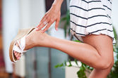Woman hand and foot — Stock Photo