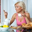 Woman at breakfast  — Foto Stock