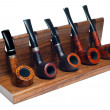 Collection of smoking pipes — Stockfoto