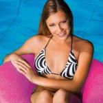 Girl in the pool — Stock Photo #20429951