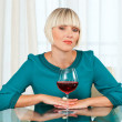 Woman with wine — Stock Photo #20437721