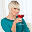 Woman with wine — Stockfoto #20437841