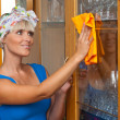 Woman at housework — Stock Photo