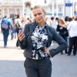 Sophisticated woman with mobile phone — Stock Photo #20464429