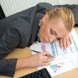 Businesswoman sleeping at her desk — Stock Photo #20465071