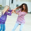 Two woman fight each other — Stock Photo #21414737