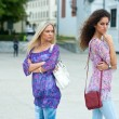 Two woman angry to each other — Stock Photo #21414915
