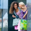 Two woman friends shopping — Stock Photo #21415479