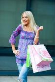 Woman shopping — Foto de Stock