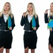 Business woman collection — Stock Photo