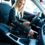 Woman in car — Stock Photo #21422209