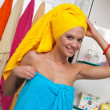 Teen girl in bathroom — Stock Photo #21437073