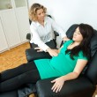 Pregnant woman at therapy - Stock Photo