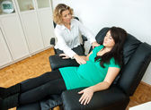 Pregnant woman at therapy — Stock Photo