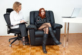 Teen girl on therapy — Stock Photo