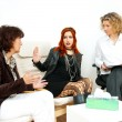 Mother and daughter on therapy session — Stock Photo