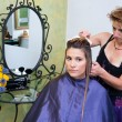 Hair stylist at work — Stock Photo #21441395