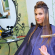 Making hairstyle — Stock Photo