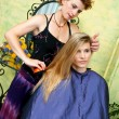 Hair stylist at work — Stock Photo #21442349