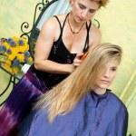 Hair stylist at work — Stock Photo #21442603