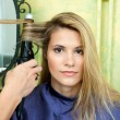 Stock Photo: Curling hair