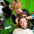 Hair stylist at work — Stockfoto #21446925