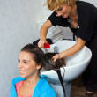 Hair stylist at work — Stock Photo #21447827