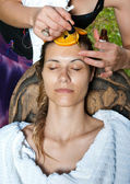 Woman having facial treatment — Stock Photo