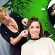 Stock Photo: Working scene from hair salon