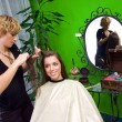 Working scene from hair salon — Stock Photo