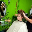 Hair stylist at work — Stock Photo #21455311