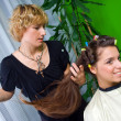 Hair stylist at work — Stock fotografie #21455637