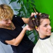 Hair stylist at work — Stock Photo #21455765
