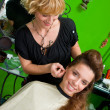 Hair stylist at work — Stockfoto #21456175