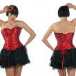 Stock Photo: Woman wearing corset