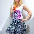 Стоковое фото: Young woman with cocktail