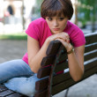 adolescente sur le banc — Photo #22202413
