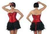 Woman wearing corset — Stock Photo
