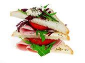 Triangle sandwich — Stock Photo