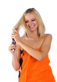 Woman with messy hair — Stock Photo