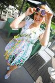 Smiling girl in summer dress — Stock Photo