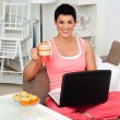 Woman with laptop — Stock Photo #22308933