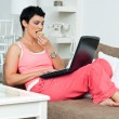 Woman with laptop — Stock Photo #22309131