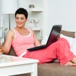 Woman with laptop - Photo