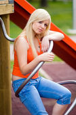 Sad teen girl — Stock Photo
