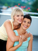 Two mature woman friends — Stock Photo