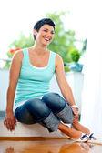 šťastný středního věku žena — Stock fotografie