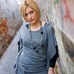Blond woman outside — Stock Photo #22310313